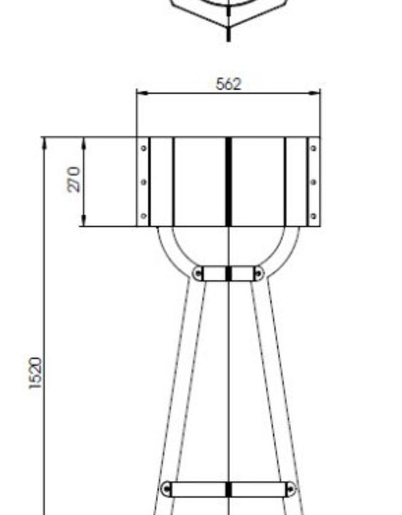 Cortenstaal lamp Valo