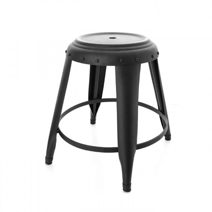 Metal Stool Black