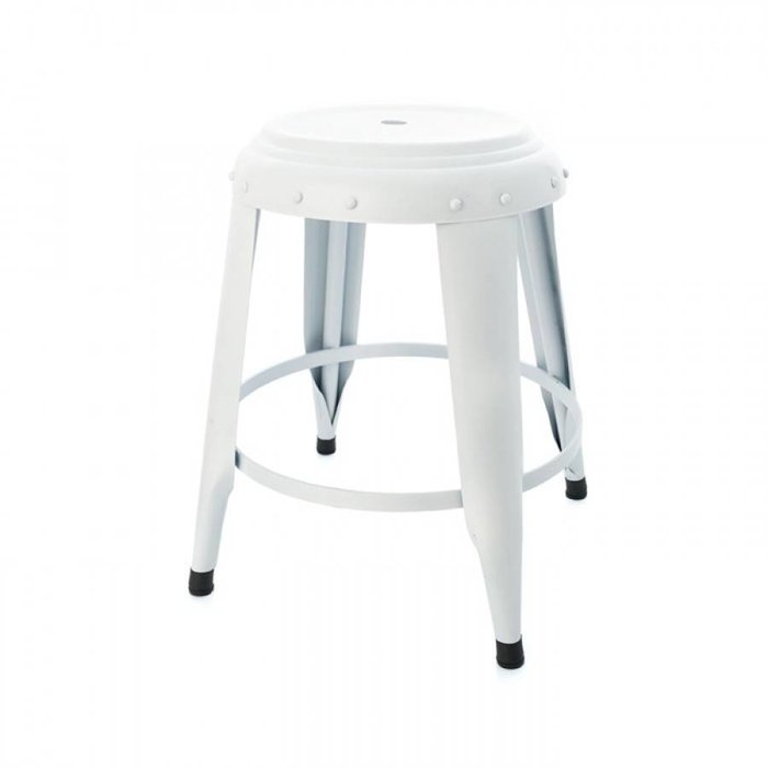 Metal Stool White
