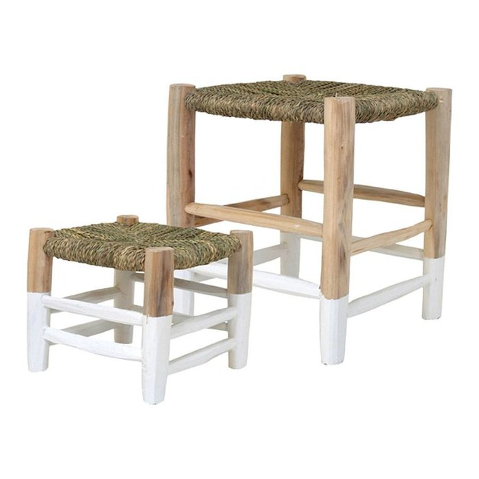 Moroccan Stool White M