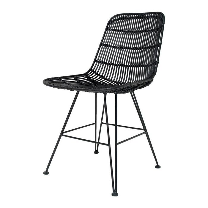 Stoel RAT0011 rotan dining chair black