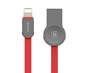Baseus Baseus Keyble Zinc Alloy Cable rood/zilver