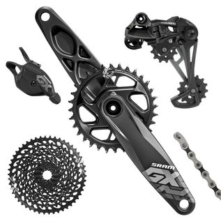 SRAM SRAM GX Eagle Groupset (Rear Derailleur, Trigger Shifter With Clamp, Crankset GXP 12s With Direct Mount 32t X-Sync Chainring, Chain 126 links 12s, Cassette XG-1275 10-50t, Chaingap Gage