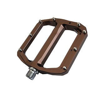 Burgtec Burgtec Penthouse MK4 Flat Pedals Steel Axle - Copper
