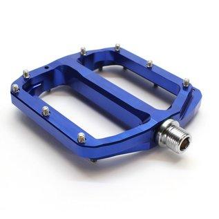 Burgtec Burgtec Penthouse MK4 Flat Pedals Steel Axle - Blue