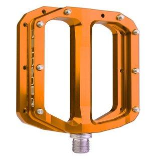Burgtec Burgtec Penthouse MK4 Flat Pedals Steel Axle - Orange