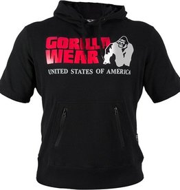 Gorilla Wear Short sleeve hoodie - black
