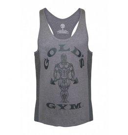 Gold's Gym Tonal panel stringer vest - Grey