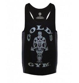 Gold's Gym Tonal panel stringer vest - Black