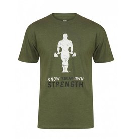 Gold's Gym Stronger than yesterday T-shirt - Army
