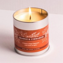 St Eval Christmas Orange & Cinnamon Geurkaars in Blikje