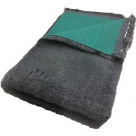 vetbed antraciet grijs groene backing
