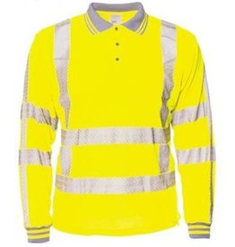 M-Wear online kopen bij JTH M-Wear 6220 Poloshirt lange mouw RWS geel