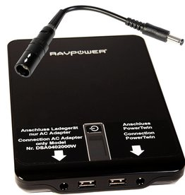 PowerBank inkl. Adapterkabel PowerTwin21