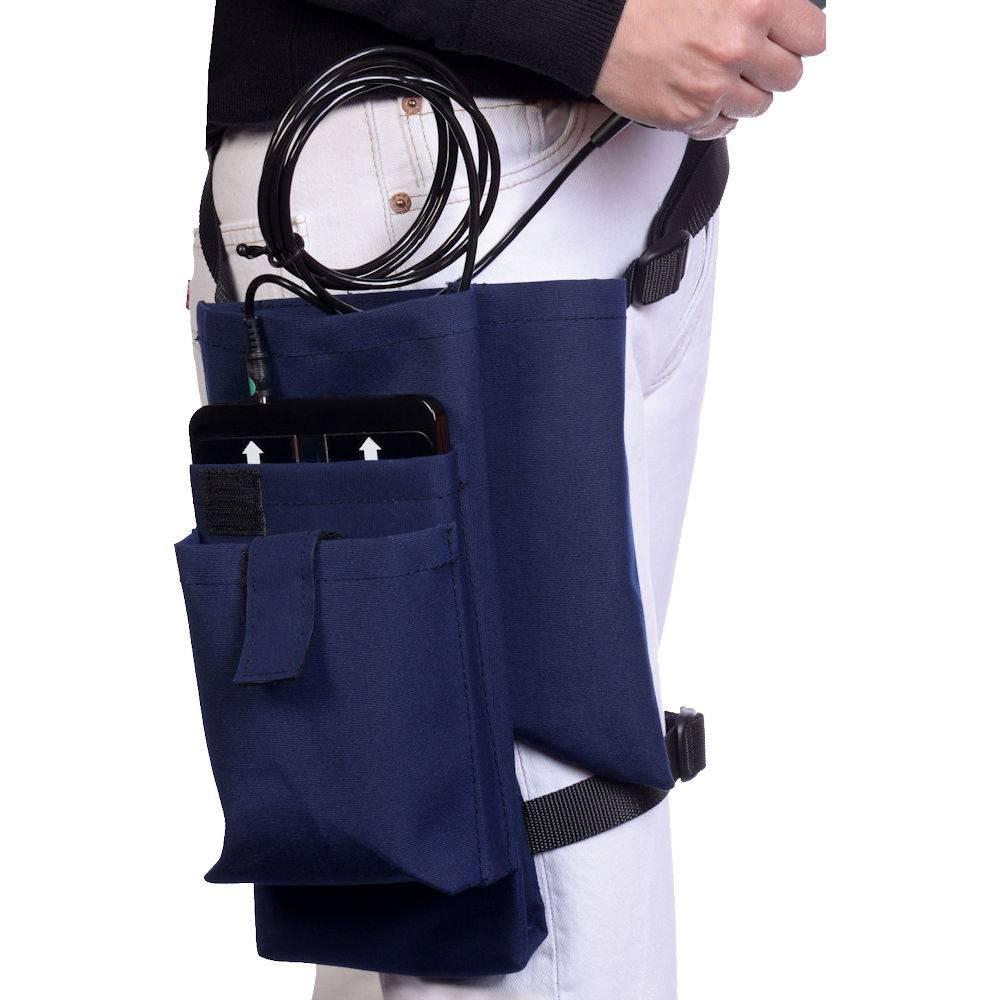 MKW Lasersystem Blaue Beintasche für den mobilen Einsatz