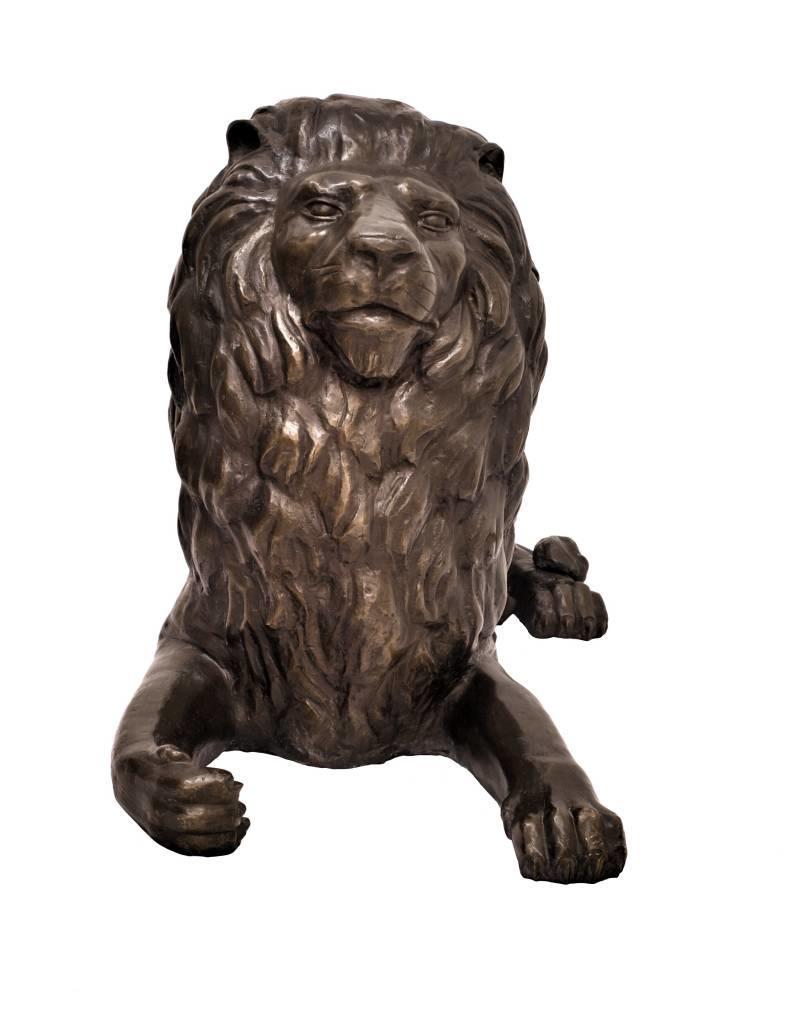 Mios – Bronzefigur liegender Löwe