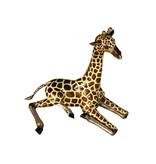 Dayo – Bronzeskulptur Giraffe mit Emaille