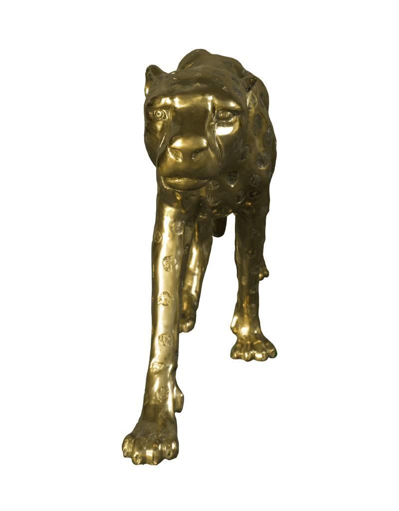 Grande Aristea – Goldfarbener Gepard Skulptur