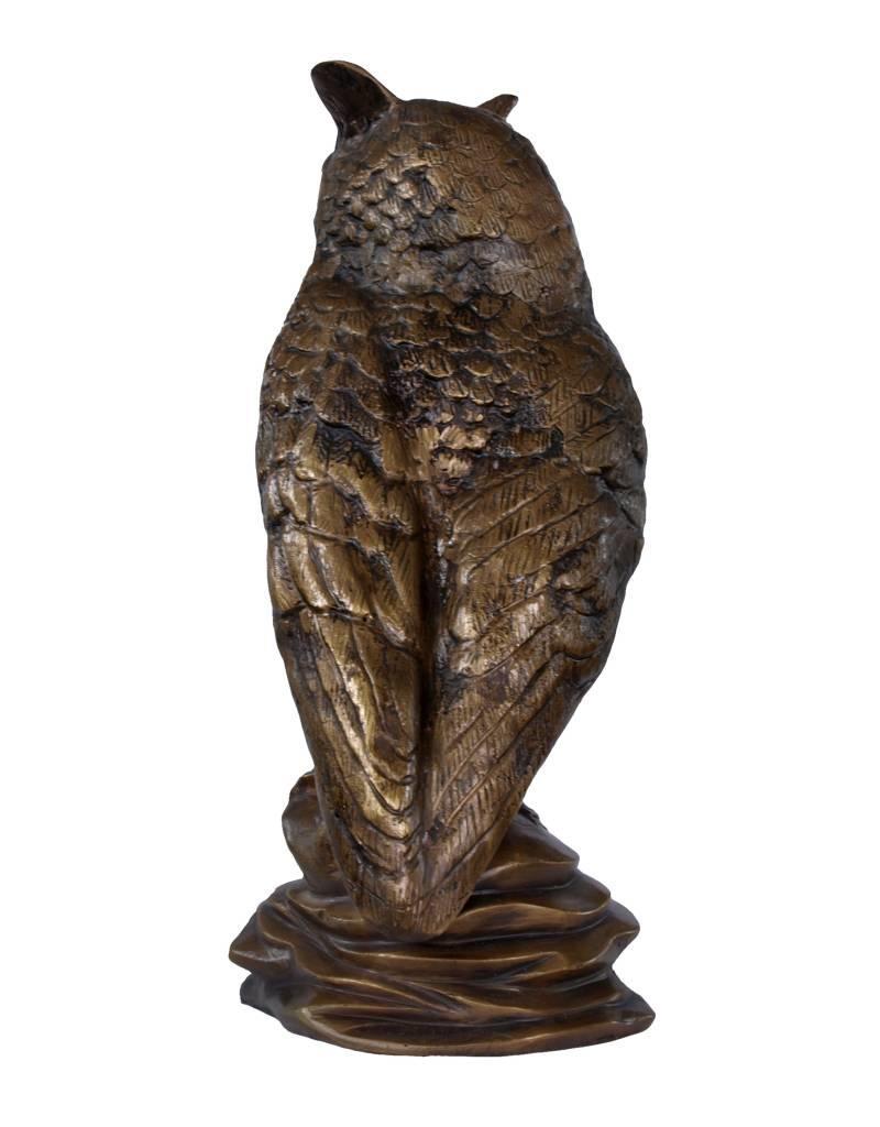 Bubo Grande – Bronzeskulptur eines Uhus