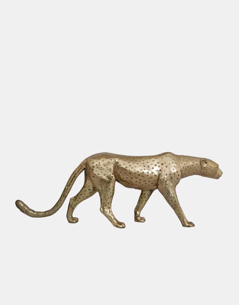 Petite Aristea – Goldfarbene Gepardenskulptur