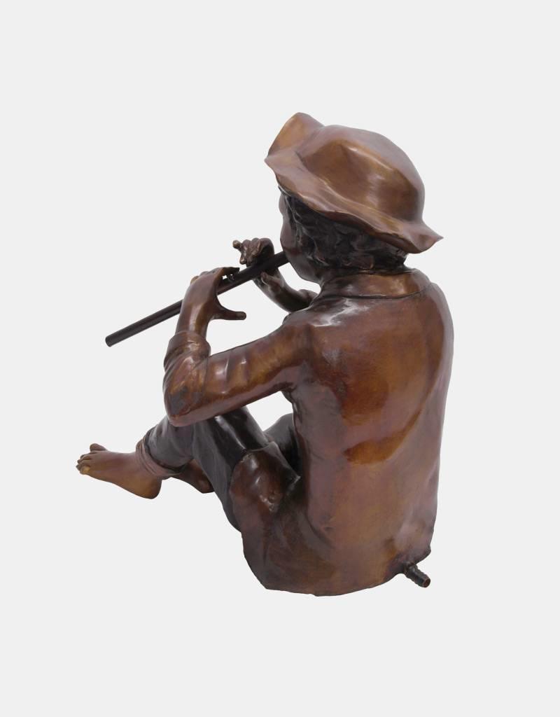 Tichon II - Sitzender Flötenspieler Wasserspeier
