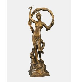 Callista – Große Bronze einer Frau mit Schleier