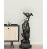 Tesem – Lebensgroßer Windhund Bronzefigur