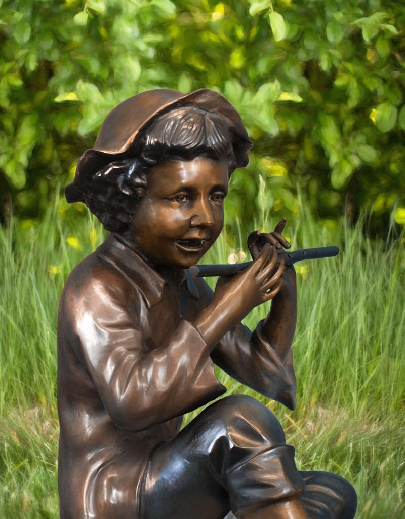 Tichon I - Sitzender Flötenspieler Wasserspeier