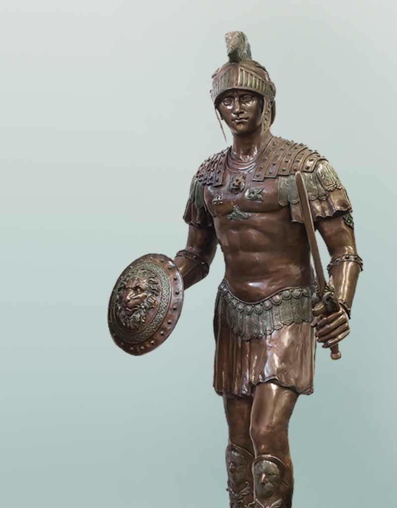 Achilles – Überlebensgroßer Soldat der Antike Skulptur
