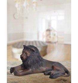 Clarence – Bronzefigur eines Löwen