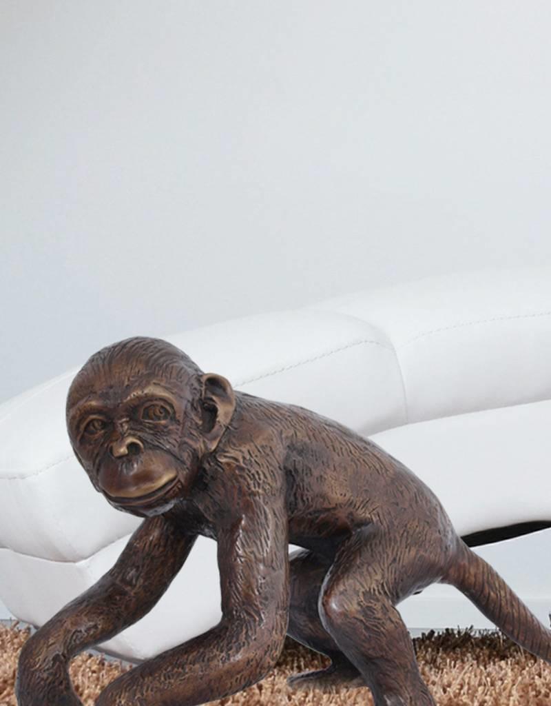 Ateles II – Bronzefigur eines Affen (links)