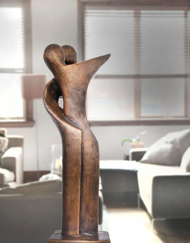 Afiri Duett – Abstraktes Paar Skulptur