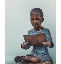 Hermine – Bronzeskulptur eines Mädchens
