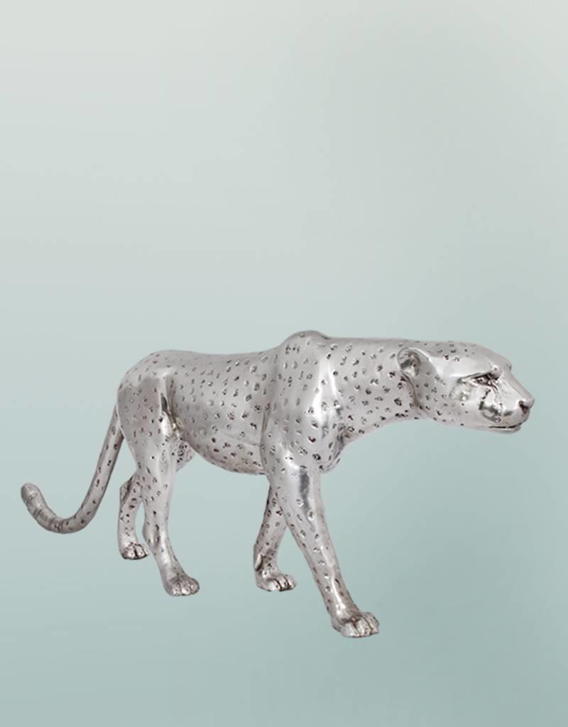 Petite Aristea – Silberfarbene Gepardenfigur