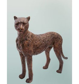 Aristeas – Lebensgroße Bronzeskulptur eines Gepards / Cheetah