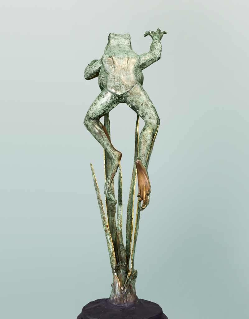 Heket II – Bronzeskulptur eines Frosches