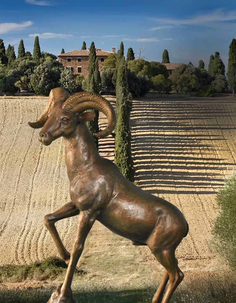 Ovis – Lebensgroße Skulptur Wildschaf