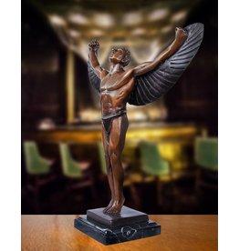 Bronzeskulptur des Ikarus
