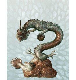 Da Lóng – Bronzeskulptur eines Drachen