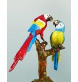 Petit Laetus – Bunter Papageienbaum auf Marmorsockel