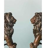 Mios Duett – Sitzendes Löwenpaar Torwächter