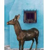 Artemis – Lebensgroßes Hirschtier Bronze
