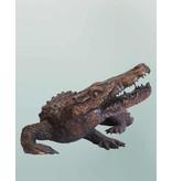 Sobek – Bronzeskulptur eines Krokodils