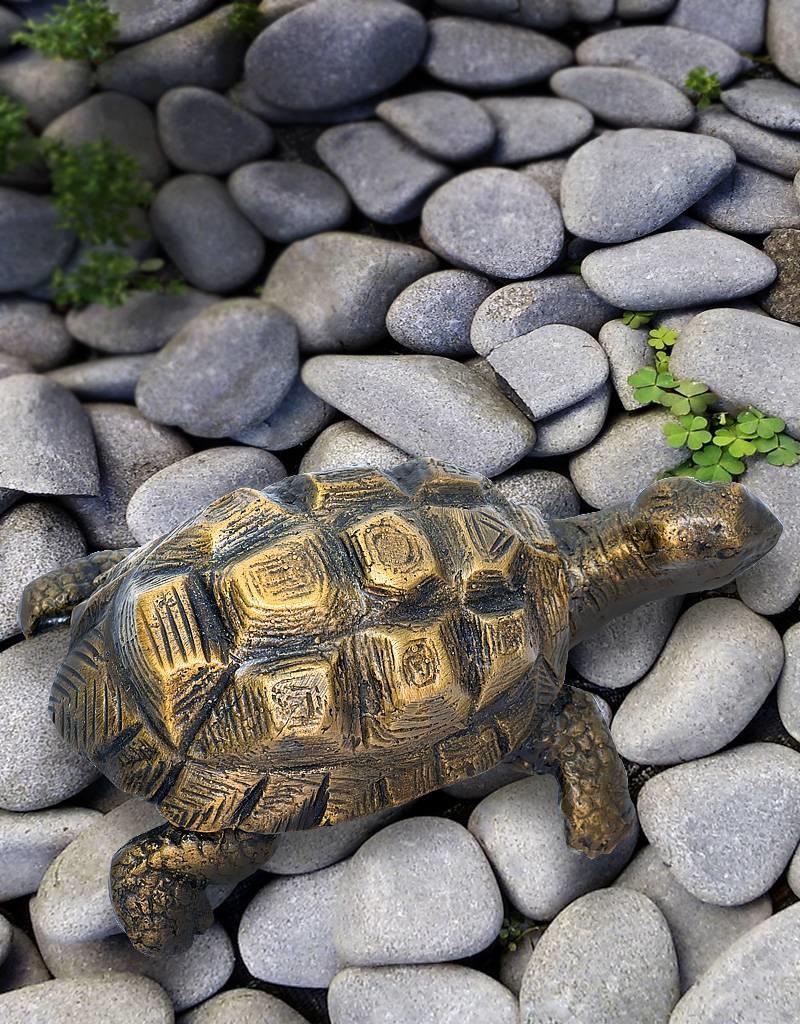 Egid – Bronzeskulptur einer Schildkröte