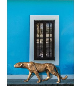 Moyenne Aristea – Bronzefigur Gepard