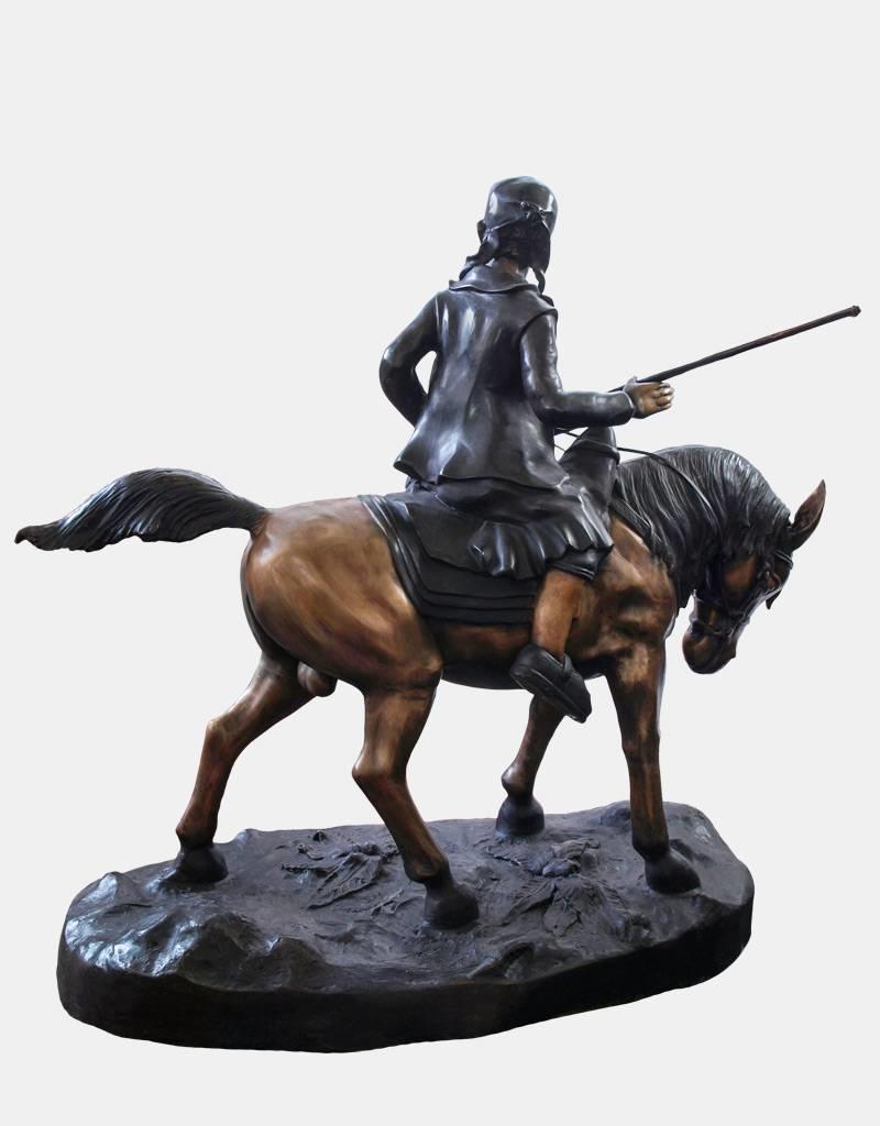 Lawrence – Beduine auf Pferd Bronzfigur