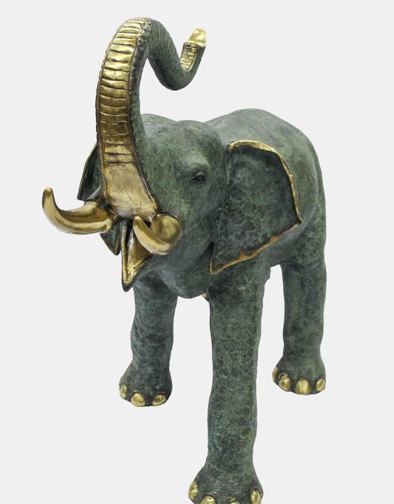 Makari – Elefant große Bronzefigur Gartenskulptur