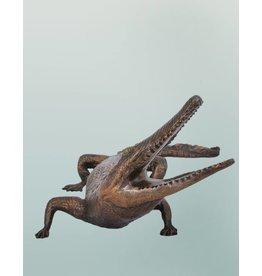 Timor – Bronzefigur eines Krokodils