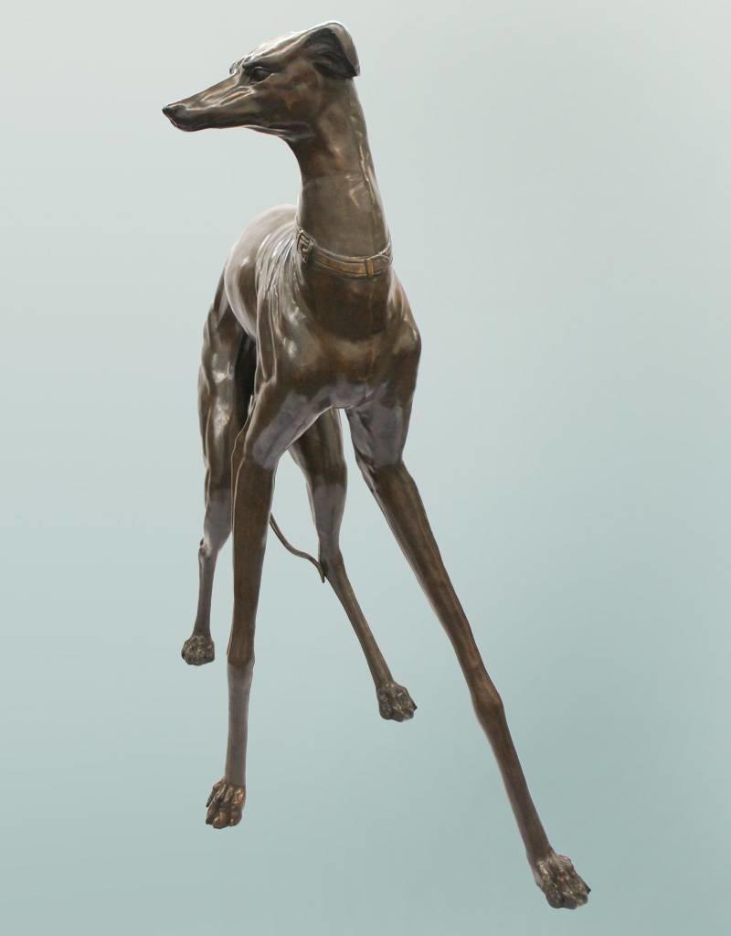 Grand Tesem II – Überlebensgroßer Windhund Bronzefigur