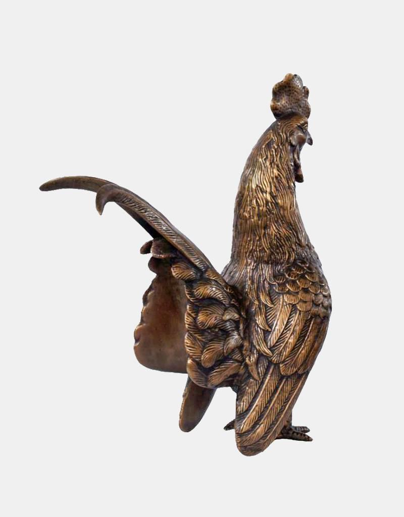 Gallus – Bronzefigur eines Hahns